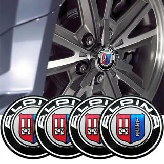 ビーエムダブリュー(BMW)のアルピナ ホイールセンターハブキャップ エンブレム ロゴ アルミステッカー(車外アクセサリ)