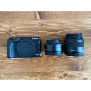 キヤノン(Canon)の【値下げしました】Canon EOS M3 ダブルレンズキット2 BK(ミラーレス一眼)