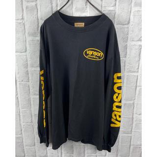 バンソン(VANSON)のVANSON ロンT シャツ ロゴ USA プリント L(Tシャツ/カットソー(七分/長袖))