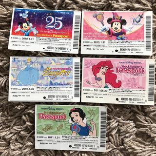 ディズニー(Disney)の使用済み ディズニーリゾート パスポート チケット(遊園地/テーマパーク)