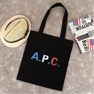 A.P.C - カラフル印字 A.P.C.  トートバック