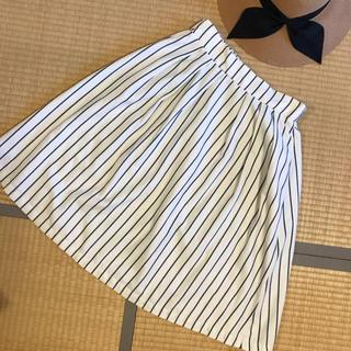 THE EMPORIUM - フレアスカート 膝丈 ストライプ 春 エンポリ かわいい 夏