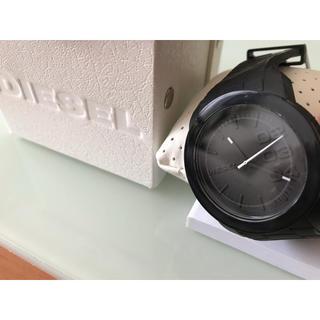 ディーゼル(DIESEL)のDIESEL  ディーゼル  BLACK腕時計  シンプル 黒  電池交換済み(腕時計(アナログ))