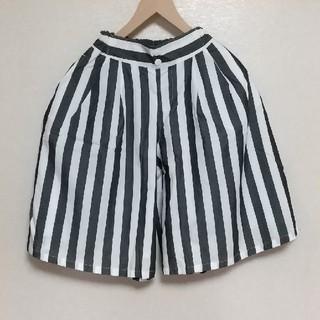 ジーユー(GU)の新品 GU ガールズ ストライプ ワイドパンツ 140 ガウチョ ジーユー(スカート)