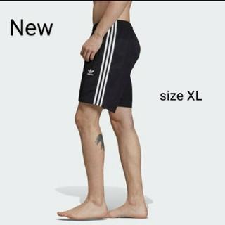 アディダス(adidas)の新品 XL adidas orignals スイム ショーツ 水着 黒白(水着)