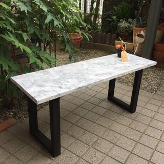 大理石調テーブル(ローテーブル)