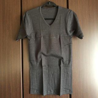 グンゼ(GUNZE)のグンゼGUNZE Vカット半袖TシャツメンズブラックLLサイズカットソー日本製(Tシャツ/カットソー(半袖/袖なし))