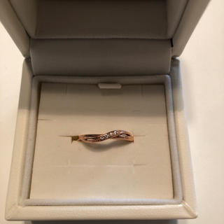 ヨンドシー(4℃)の4℃ 10号 ゴールド 指輪 リング ダイヤ付(リング(指輪))