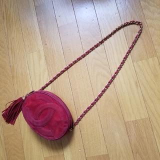 CHANEL - 正規品🖤CHANELヴィンテージオーバル型フリンジチェーンショルダーバッグ