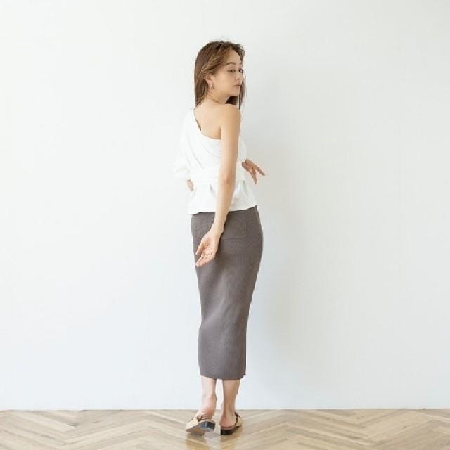 SeaRoomlynn(シールームリン)のリブニットスリムスカート レディースのスカート(ひざ丈スカート)の商品写真