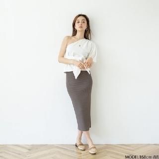 シールームリン(SeaRoomlynn)のリブニットスリムスカート(ひざ丈スカート)