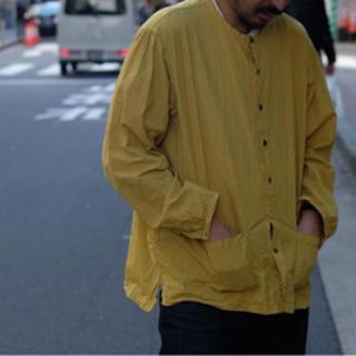 Paul Harnden - the crooked tailor コットンシルクノーカラーシャツ美品 48