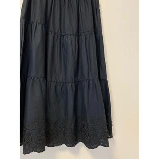 SM2 - 【未使用】SM2 サマンサモスモス 裾スカラップスカート 黒