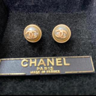 シャネル(CHANEL)のシャネルボタン プチサイズ(ピアス)