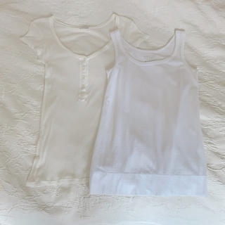 セオリーリュクス(Theory luxe)のTシャツ&タンクトップ2点セット アメリカンヴィンテージ セオリー インナー白L(Tシャツ(半袖/袖なし))