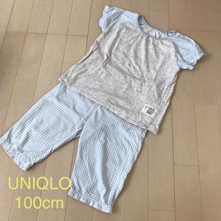 ユニクロ(UNIQLO)のUNIQLO 女の子用パジャマ  100cm(パジャマ)