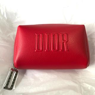 Dior - Dior ディオール ノベルティ ポーチ 赤