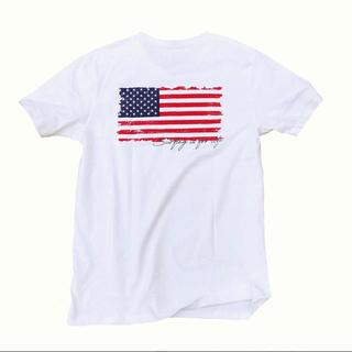 ロンハーマン(Ron Herman)の西海岸系☆アメリカンフラッグバックプリントTシャツ  Sサイズ RVCA(Tシャツ/カットソー(半袖/袖なし))