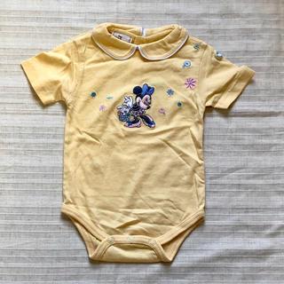 Disney - ディズニー ミニーマウス 半袖ロンパース  70