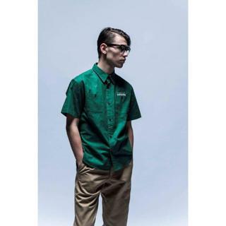 キャリー(CALEE)の☆送料込み☆新品半額CUTRATE 半袖クロスボーンワークシャツ GREEN(シャツ)