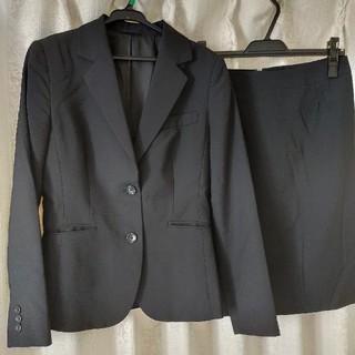 スカートスーツ上下 ブラック リクルートスーツ(スーツ)