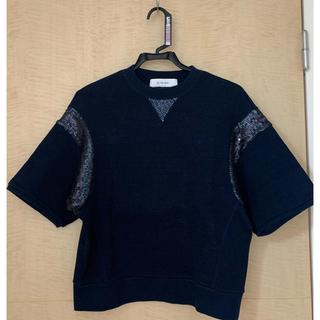 ルシェルブルー(LE CIEL BLEU)のルシェルブルースパンコール半袖トレーナー(カットソー(半袖/袖なし))