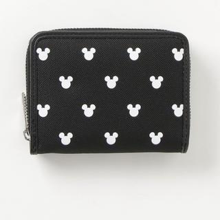 ディズニー(Disney)のミッキー 二つ折財布 白とピンク(財布)