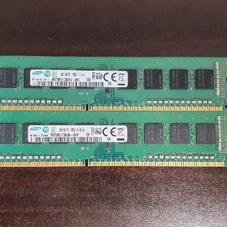 サムスン(SAMSUNG)の[くま様専用]DDR3 4gbメモリ×2枚(PCパーツ)