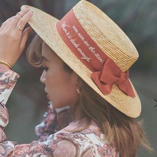 エイミーイストワール(eimy istoire)のeimy カンカン帽(麦わら帽子/ストローハット)
