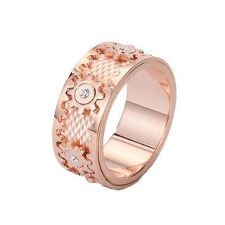 WFJapan 2020最新 ピンク 歯車指輪 回転リング 回る指輪 男女通用(リング(指輪))