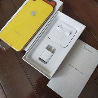 アイフォーン(iPhone)のiPhone XR 128G イエロー SIMフリー 中古 判定○(スマートフォン本体)