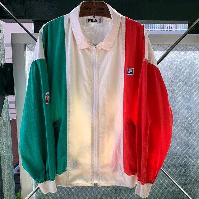 FILA(フィラ)の90s FILA ナイロンジャケット トリコロール バックプリント イタリア メンズのジャケット/アウター(ナイロンジャケット)の商品写真