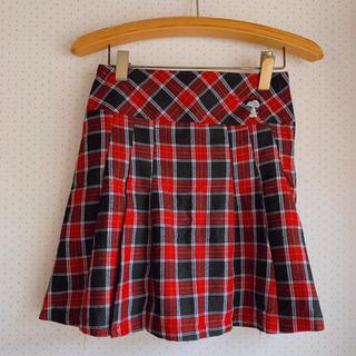 ピーナッツ(PEANUTS)のスヌーピー 赤チェックスカート 女の子(スカート)