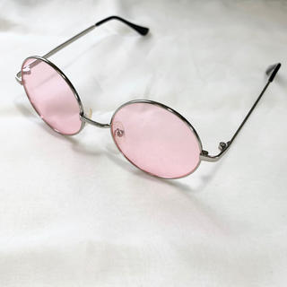 BEAMS - サングラス ボストン ピンク 丸メガネ