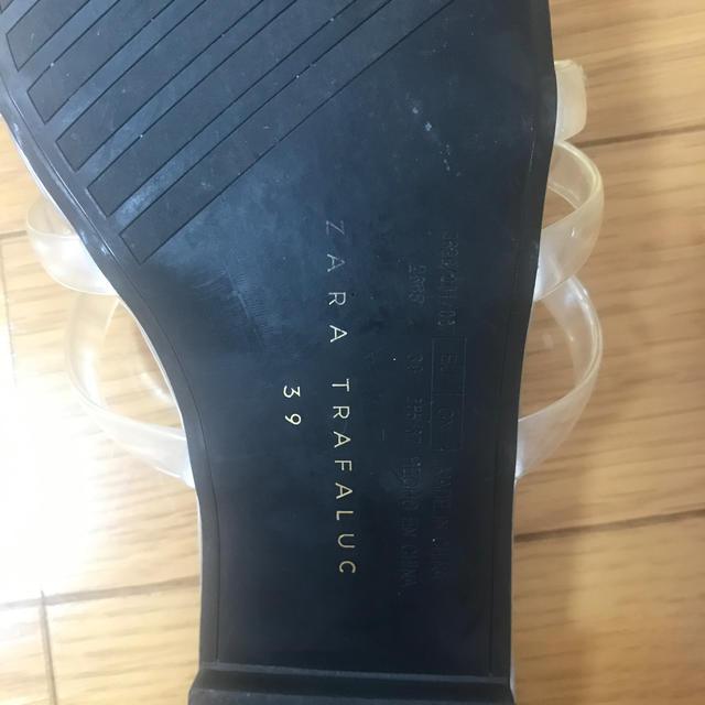 ZARA(ザラ)のzaraクリアサンダル レディースの靴/シューズ(サンダル)の商品写真