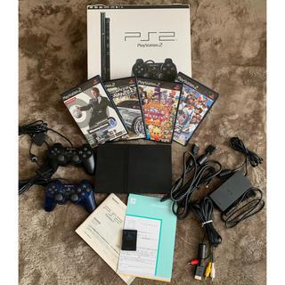 プレイステーション2(PlayStation2)のプレイステーション2本体 ソフト4本(家庭用ゲーム機本体)