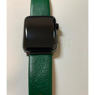 Apple Watch - 美品 AppleWatchシリーズ2 42mmスペースブラックステンレススチール