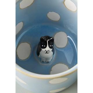 アンソロポロジー(Anthropologie)のアンソロポロジー マグカップ(ブルー ドット柄)(グラス/カップ)