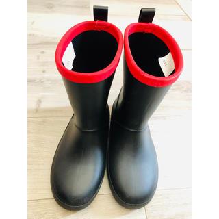 長靴 20cm 黒・赤(長靴/レインシューズ)