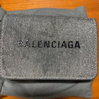 バレンシアガ(Balenciaga)のBALENCIAGA シルバーグリッター ミニ財布(折り財布)