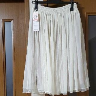 シマムラ(しまむら)の新品未使用ウエストゴムチュールスカート  プリーツスカートギャザースカート(ひざ丈スカート)