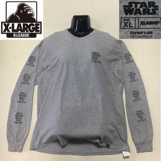 エクストララージ(XLARGE)のエクストララージ スターウォーズ カイロ・レン ロングTシャツ グレー XL(Tシャツ/カットソー(七分/長袖))