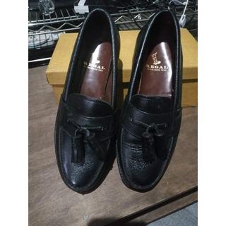 REGAL タッセル付き 革靴 黒 ローファー ②(スリッポン/モカシン)
