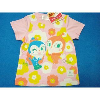 アンパンマン(アンパンマン)のお値下げ中! 100cm アンパンマン DKフラワー半袖Tシャツ ピンク(Tシャツ/カットソー)