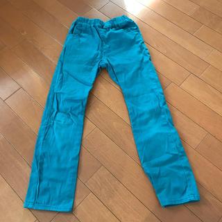 mikihouse - 【130】PICNIC 男女兼用 パンツ ターコイズブルー
