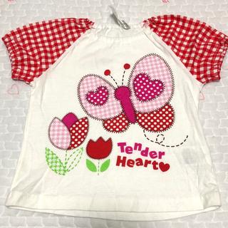 シマムラ(しまむら)の【未使用!】Tシャツ 蝶々 子供服 ベビー服(Tシャツ)