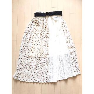 リズリサ(LIZ LISA)の花柄 レース スカート(ロングスカート)