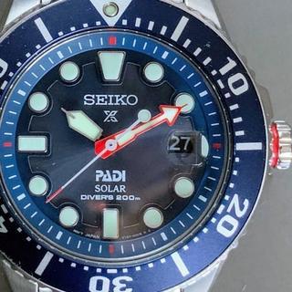 セイコー(SEIKO)のSEIKO パディコラボレーション +PADI ソーラー ダイバーズ セイコー(腕時計(アナログ))