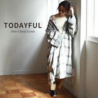 トゥデイフル(TODAYFUL)のTODAYFUL  Over Check Gown(ガウンコート)