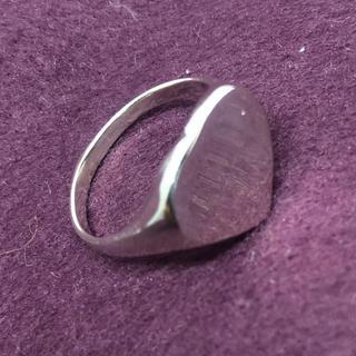 印台 ハート愛 シルバー925リング シグネットメンズ銀ハンコギフト指輪シンプル(リング(指輪))